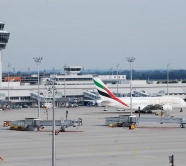 Voll auf A380 am Flughafen München