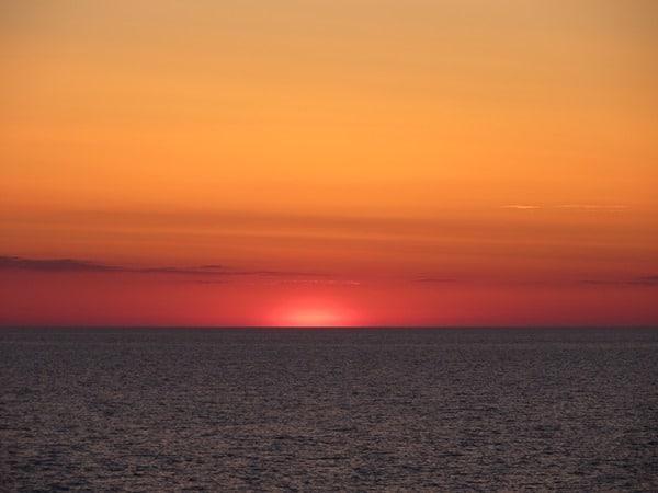 93-Sonnenuntergang-Ostsee