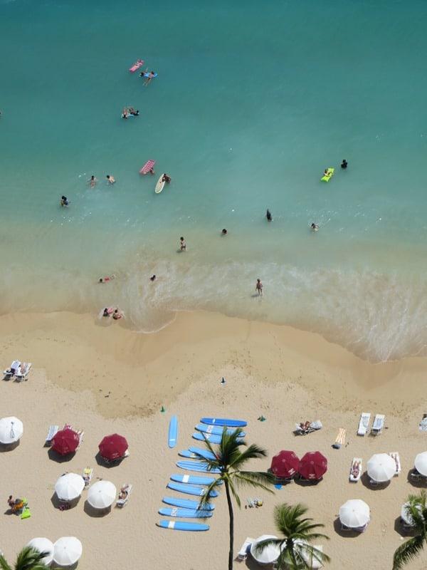 93 Waikiki Beach Strand Honolulu Oahu Hawaii