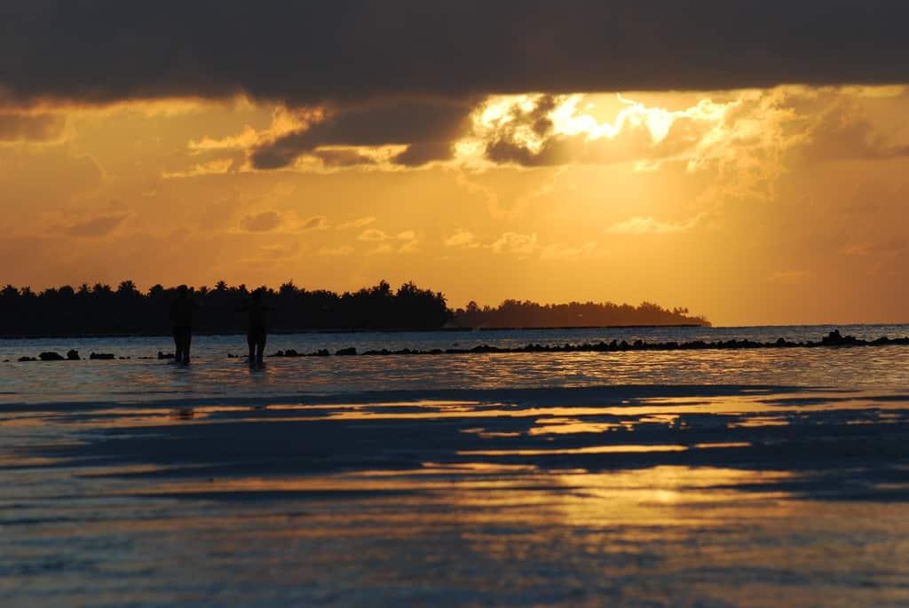Wallpaper Sunset Maledives Couple Sonnenuntergang Paar Malediven