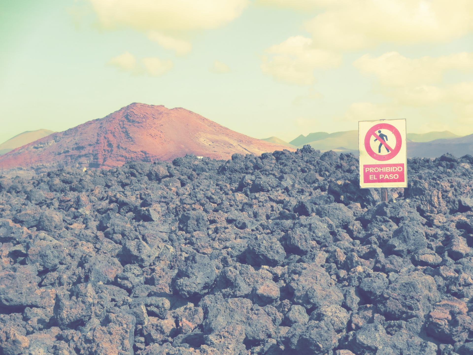 vulkan betreten verboten lanzarote kratertour