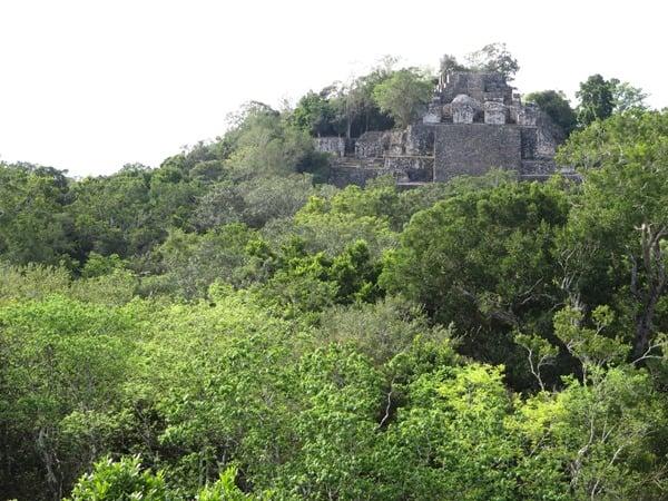 10_Maya-Ruine-Calakmul-Mexiko-Struktur-II-Pyramide-2