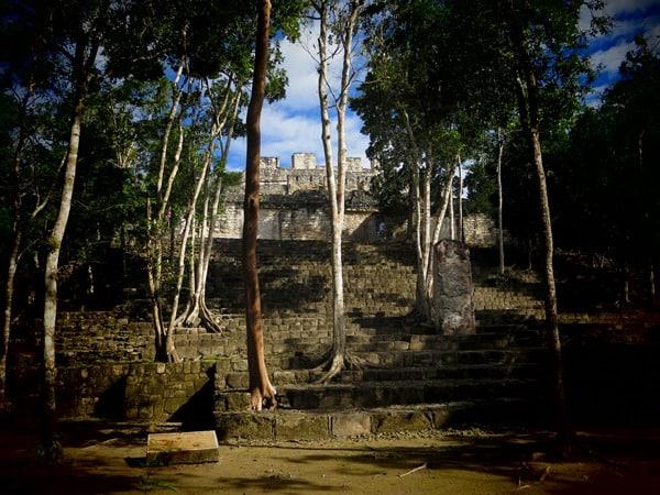 11_Maya-Ruine-Calakmul-Mexiko-Struktur-II-Pyramide-2