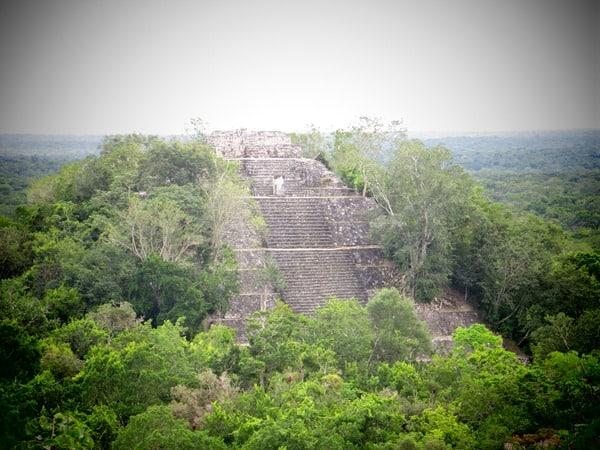 13_Maya-Ruine-Calakmul-Mexiko-Struktur-I-Pyramide-1