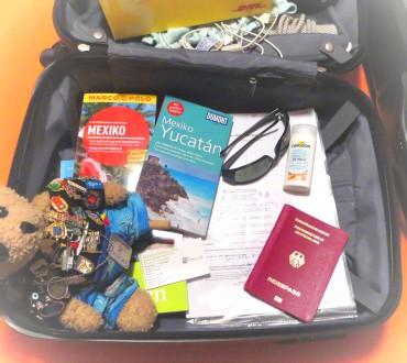 Urlaubsvorbereitungen für 2 Wochen Mexiko