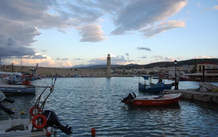 venezianischer hafen rethymnon altstadt kreta griechenland