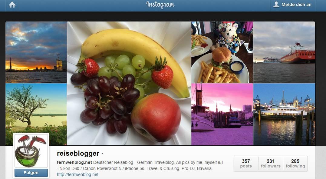 Instagram-Reiseblogger