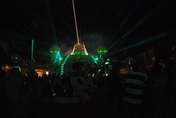 Lasershow-AIDA-Partyschiff
