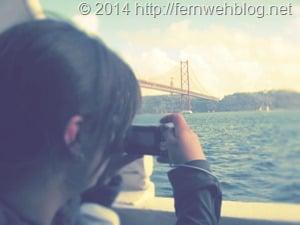 Hafenrundfahrt Lissabon Brücke Ponte 25 de Abril Cristo Rei Tejo Fotografin
