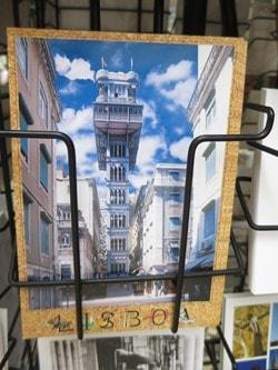 20_Postkarte-r-Elevador-de-Santa-Justa-Lissabon-Portugal