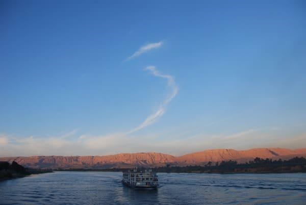 12_Abendstimmung-auf-dem-Nil-Nilkreuzfahrtschiff-Nilkreuzfahrt-Aegypten