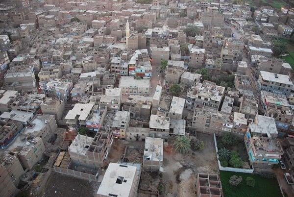 12_Luxor-bei-Sonnenaufgang-vom-Heisluftballon-Aegypten