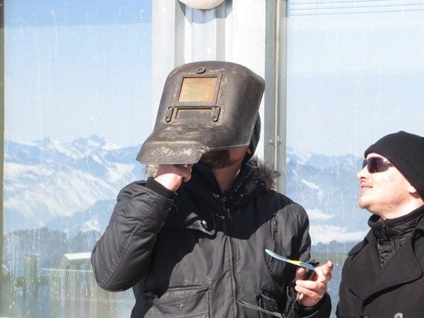12_Schweissermaske-Sonnenfinsternis-SoFi-2015-Zugspitze