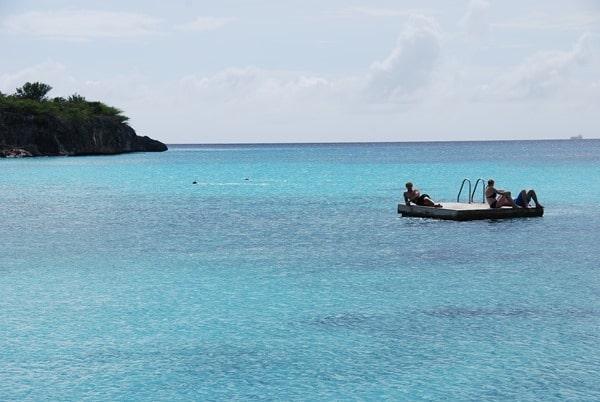 08_Baden-am-Strand-Playa-Porto-Mari-Beach-Curacao-Karibik-Meer