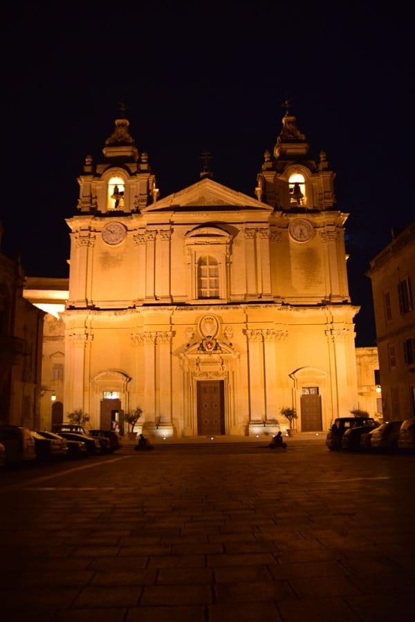 09_Kathedrale-St.Paul-Mdina-Malta-nachts