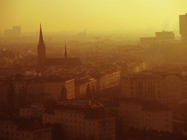 03_Flitterwochen-Blick-vom-Riesenrad-Prater-Sonnenuntergang-Wien-Oesterreich