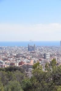 Sagrada Familia Baustelle Parl Guell Barcelona Spanien