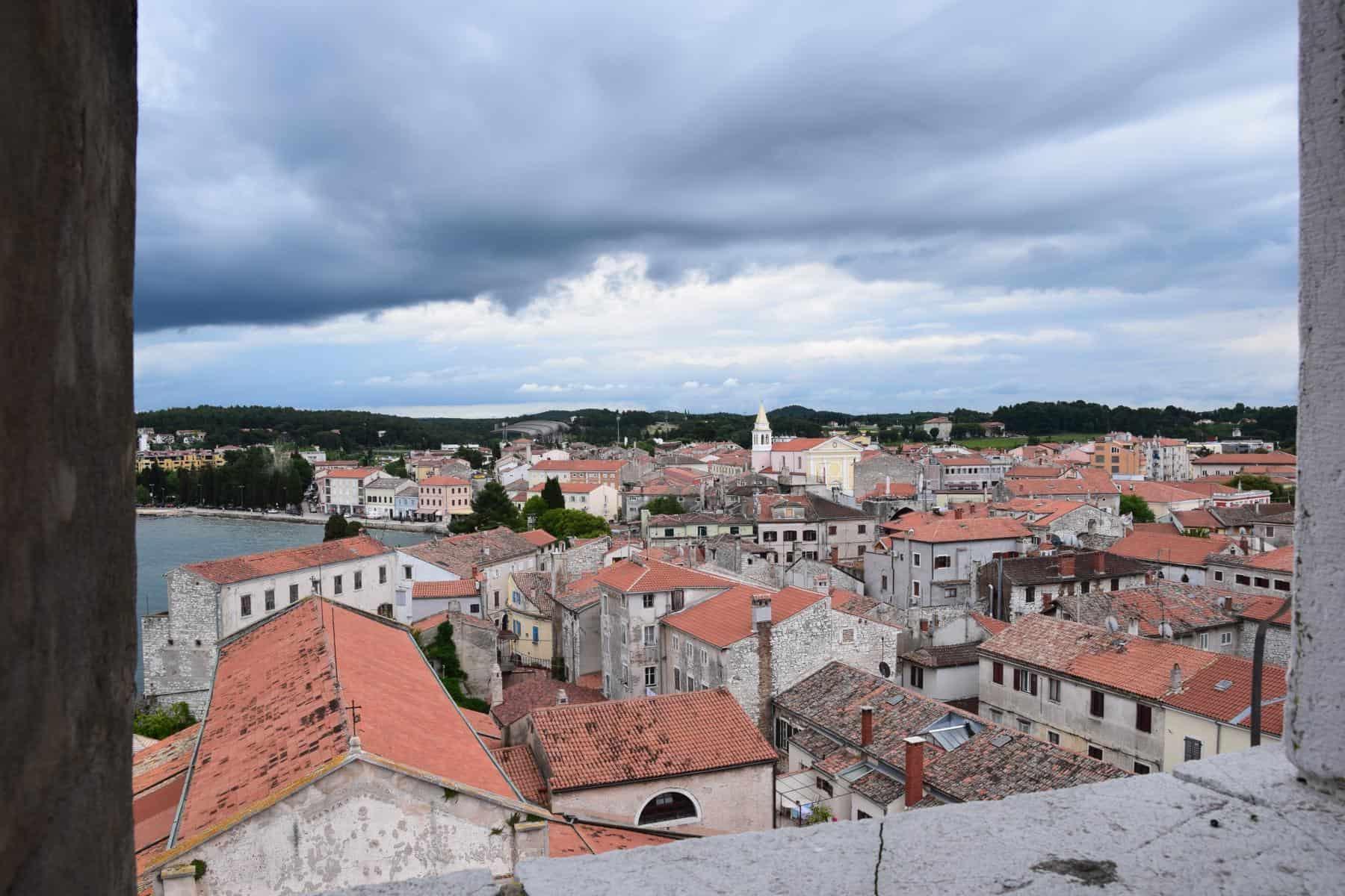 Porec Kroatien Blick vom Glockenturm Euphrasius Basilika Istrien