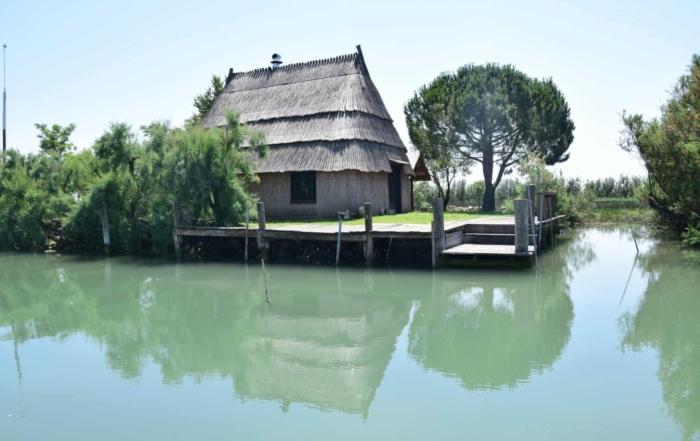 00 Casoni in der Lagune von Marano Lignano Sabbiadoro Fluss Stella Italien