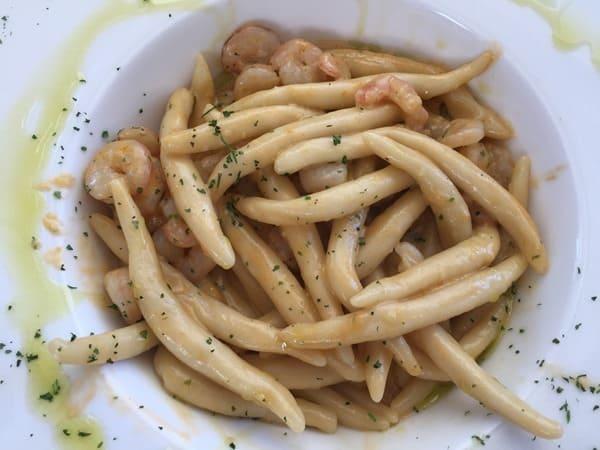 23a_Abendessen-istrische-Pasta-mit-Shrimps-Restaurant-Amfora-Rovinj-Istrien-Kroatien