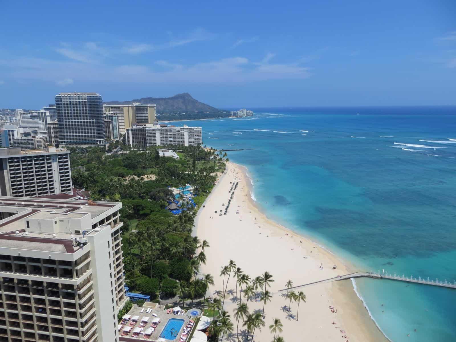 000 waikiki beach honolulu oahu hawaii von oben