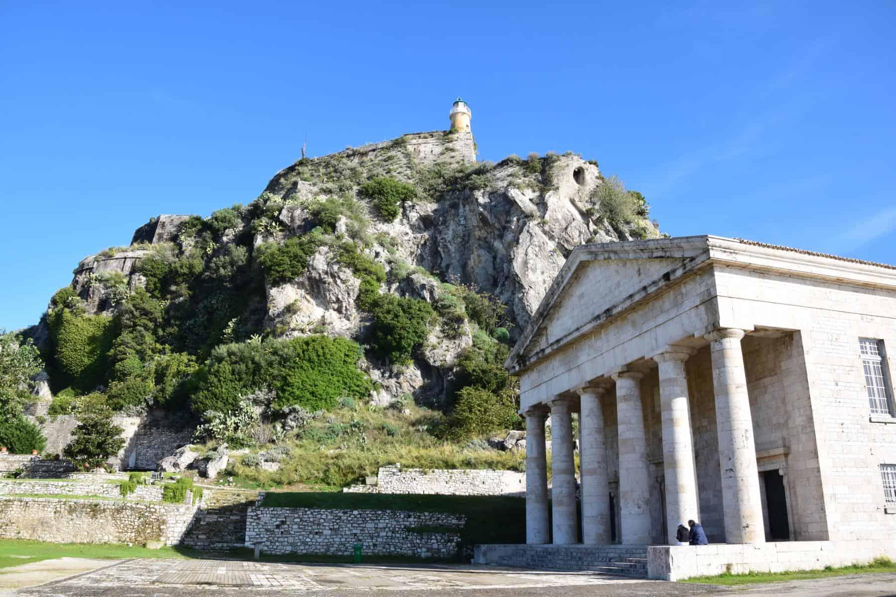 000 Kreuzfahrt oestliches Mittelmeer Alte venezianische Festung Korfu Stadt Griechenland