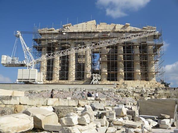 11_Baustelle-Parthenon-Akropolis-Athen-Griechenland-Kreuzfahrt-Mittelmeer