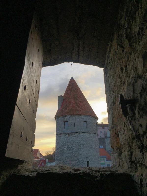 16_Blick-aus-dem-Turm-auf-den-Turm-Stadtmauer-historische-Altstadt-Tallinn-Estland