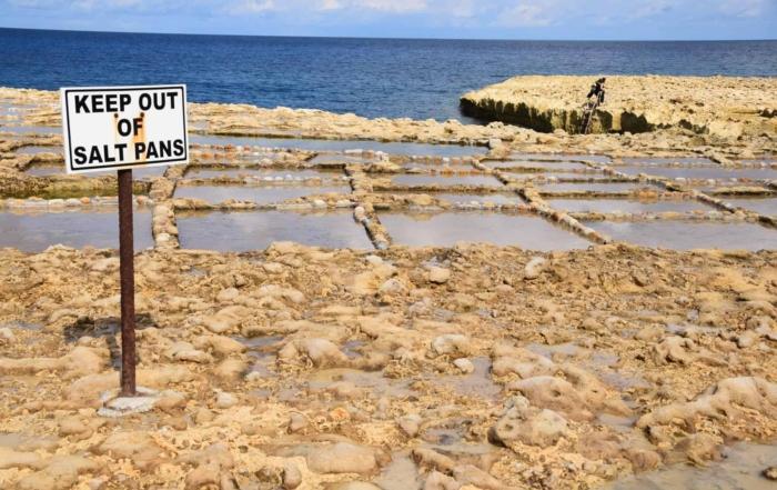 0 Salzpfannen Gozo Malta Mittelmeer