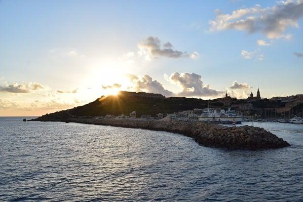 18_Sonnenuntergang-Hafen-Mgarr-Gozo-Malta