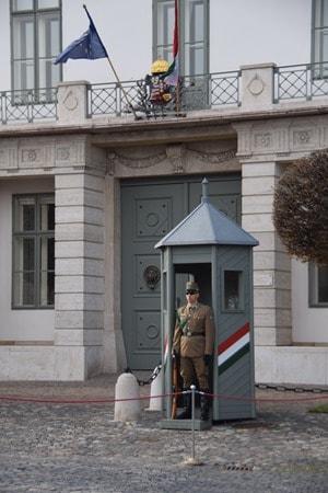 18_Flusskreuzfahrt-a-rosa-Donau-Palastwache-Palast-Buda-Budapest-Ungarn