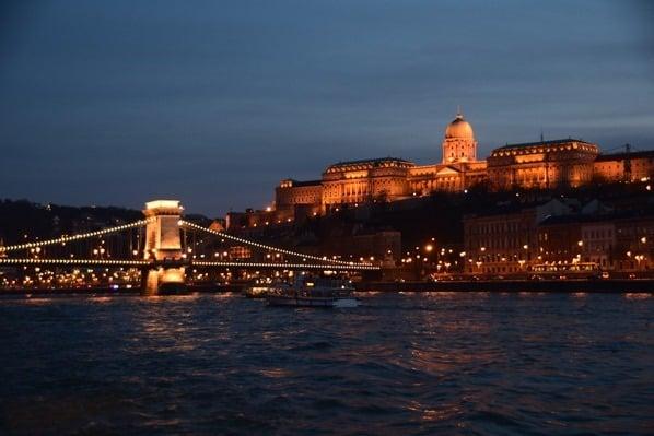 28_Flusskreuzfahrt-a-rosa-Donau-Burgpalast-Freiheitsbruecke-Budapest-Ungarn-nachts