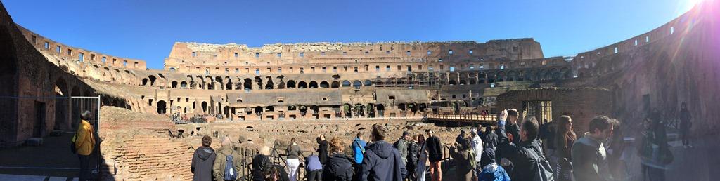 Panorama Kolosseum Colosseo Städtereise Rom Italien