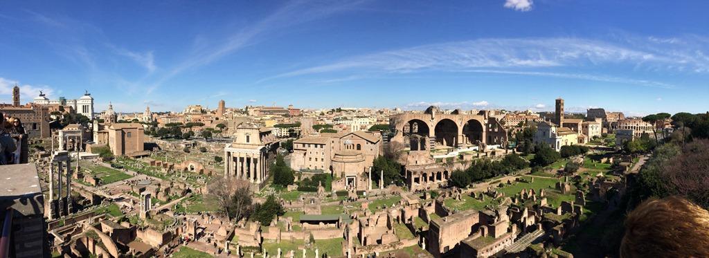 Panorama Forum Romanum Kolosseum Colosseo Städtereise Rom Italien