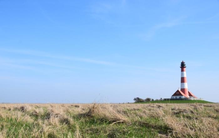 Wahrzeichen Nordsee Urlaub Leuchtturm Westehever Westerheversand Nordfriesland Schleswig-Holstein Deutschland