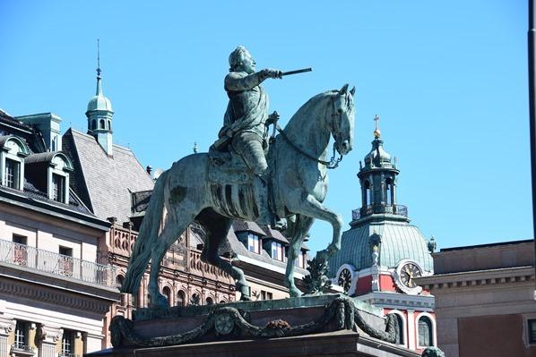 16_Gustav-Adolf-II-Reiterstandbild-Statue-Stockholm-Schweden-Ostsee-Kreuzfahrt