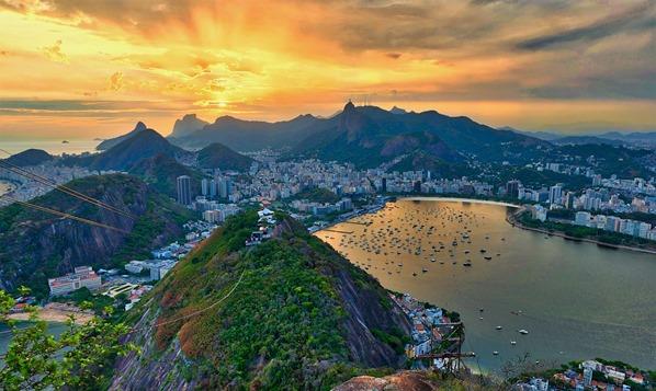 02_Sonnenuntergang-Rio-de-Janeiro-Yachtcharter-Globesailor