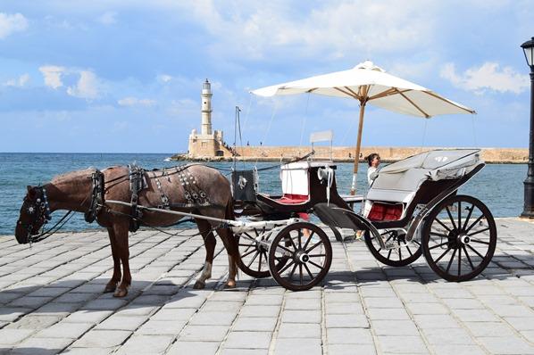 08_Pferdekutsche-Alter-Hafen-Chania-Kreta-Griechenland