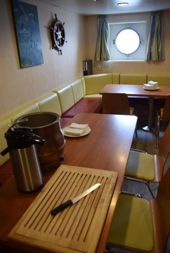 arosa flusskreuzfahrt flusskreuzfahrtschiff a-rosa aqua schiffsrundgang schiffsführung crewmesse