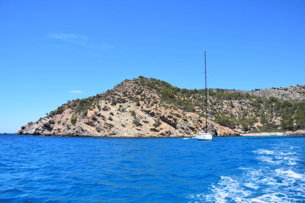 Sa Dragonera Dracheninsel Mallorca Kielwasser Ausflugsboot Abschied Balearen Spanien
