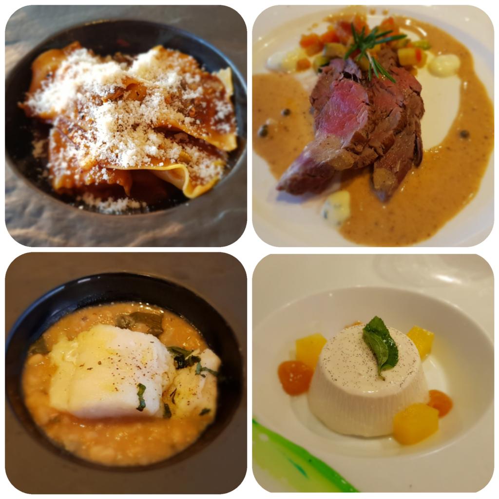 Familienkreuzfahrt Menü Costa Club Restaurant Kreuzfahrt
