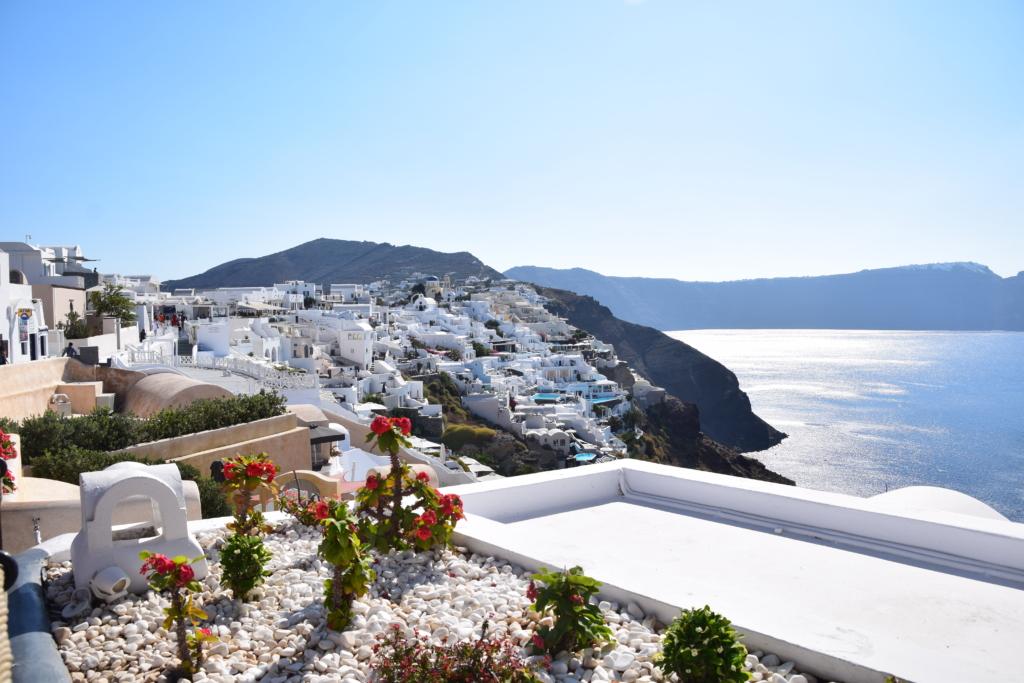 Familienkreuzfahrt Costa Oia Santorini Landgang auf eigene Faust Kykladen Griechenland Kreuzfahrt