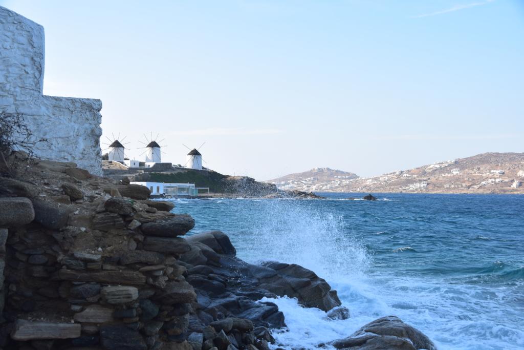 Familienkreuzfahrt Costa Windmühlen Mykonos Griechenland Kreuzfahrt
