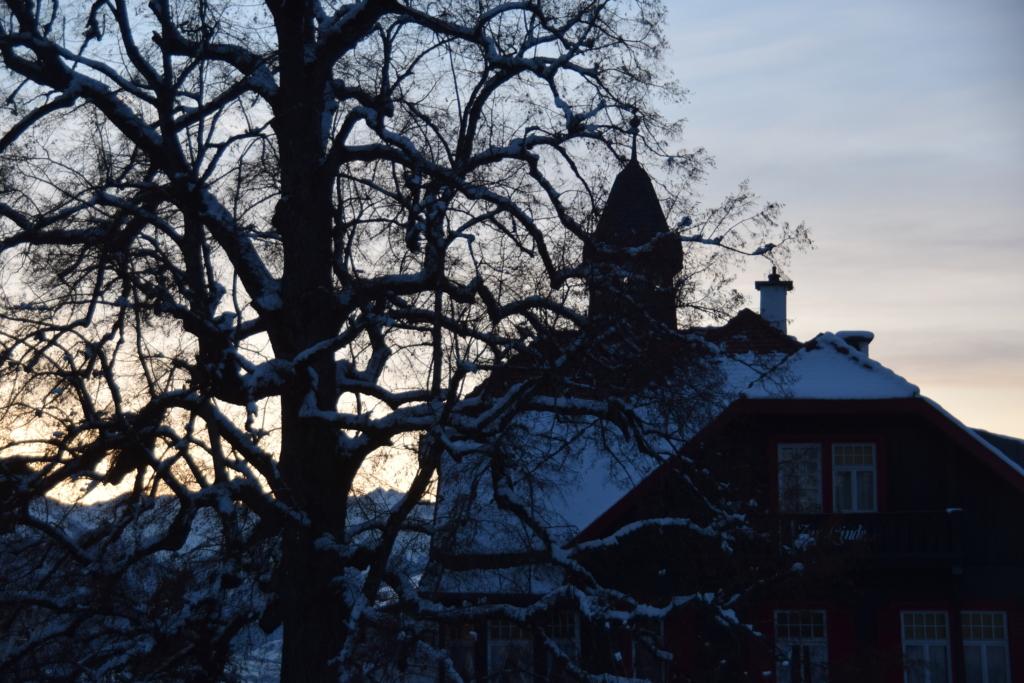 Innsbruck Winter Alpen Sonnenuntergang Christkindlmarkt Weihnachtsmarkt Hungerburg Tirol Österreich