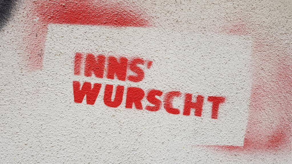 Streetart Inns'Wurscht Innsbruck Tirol Österreich