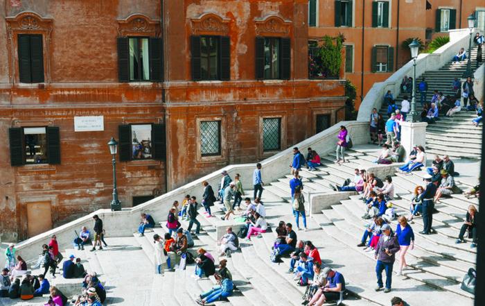 rom spanische treppe