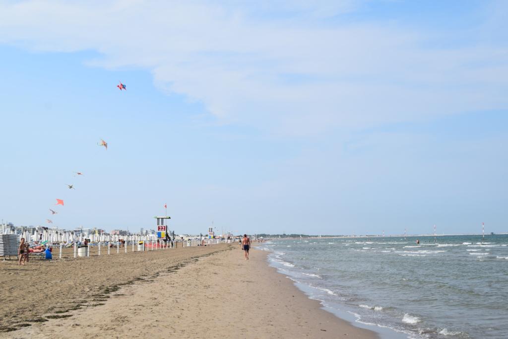 Sottomarina Strand Chioggia Venetien Lagune von Venedig Italien