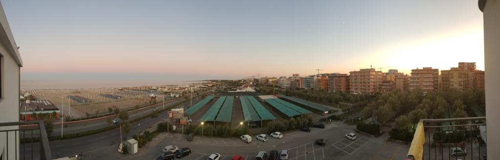 Hotel Park Sottomarina Panorama Aussicht Sonnenuntergang Chioggia Venetien Italien