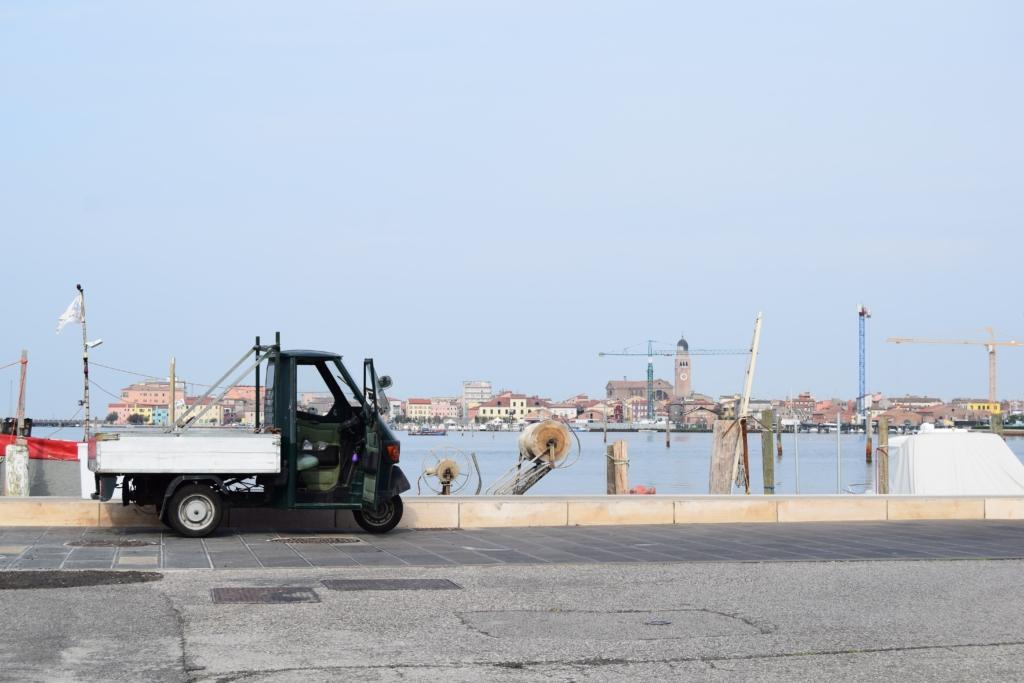 Chioggia Ape Hafen Venetien Italien