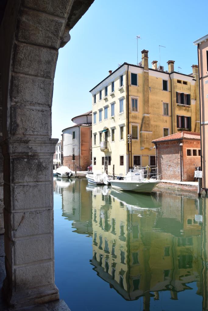 Chioggia Klein Venedig Kanal Canal Vena Spiegelung Venetien Italien